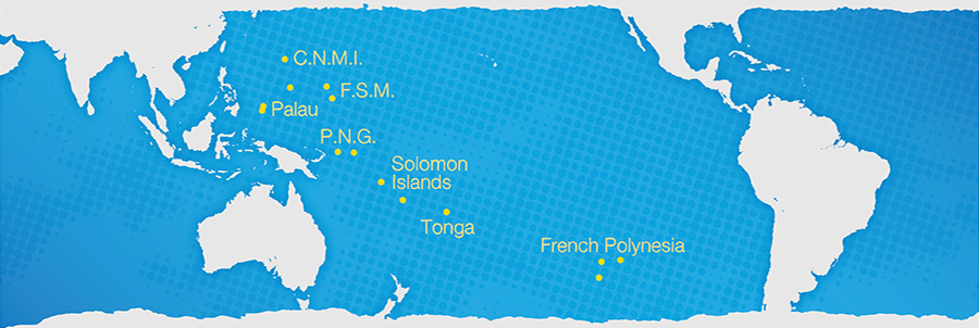 Map of the places where the Isles of the Sea project takes place